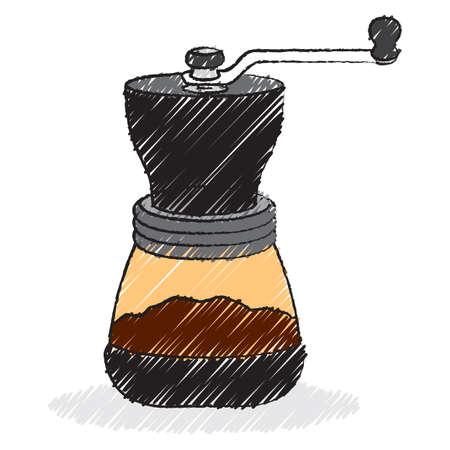 grinder: coffee grinder Illustration