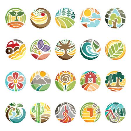 set of nature icons Ilustração