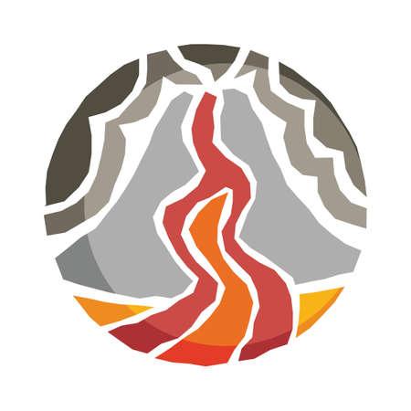 magma: volcano eruption Illustration