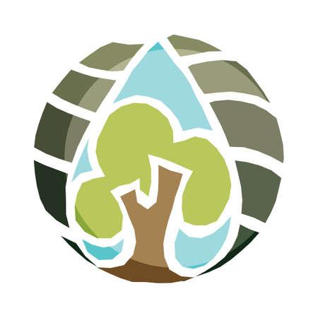 waterdrop: tree in waterdrop
