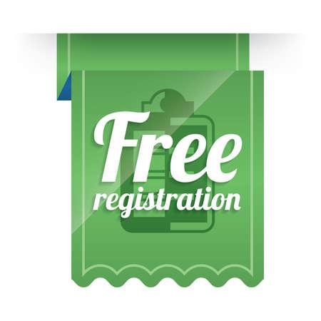 diseño de la etiqueta de registro gratuito