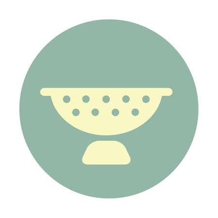 desague: la cesta de drenaje de verduras Vectores