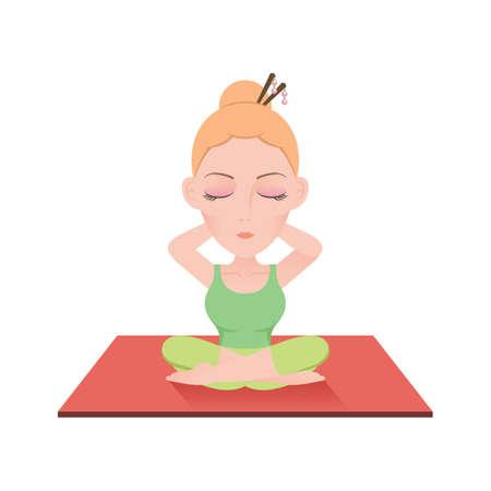 stretch: sukhasana neck forward stretch
