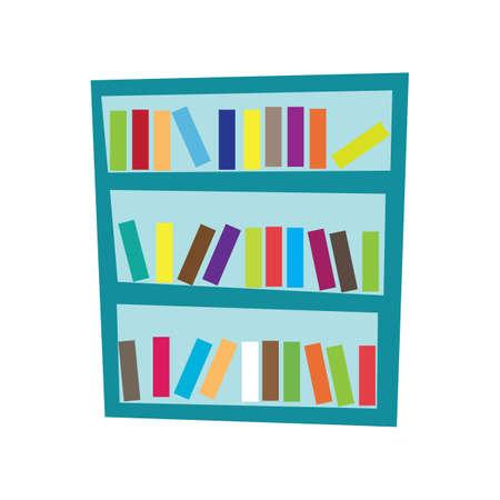 book racks: bookshelf with books Illustration
