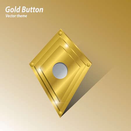 gold record: record button