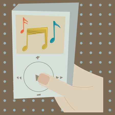 mp3 player: using an mp3 player Illustration