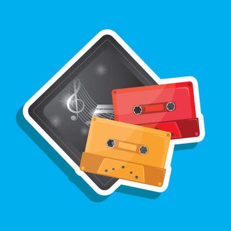 cassette tape: cassette tape label