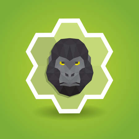 chimpanzee: chimpanzee label Illustration