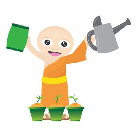 moine: moine jardinage
