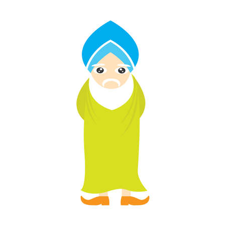 guy standing: sikh man character