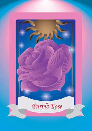 purple rose: purple rose label
