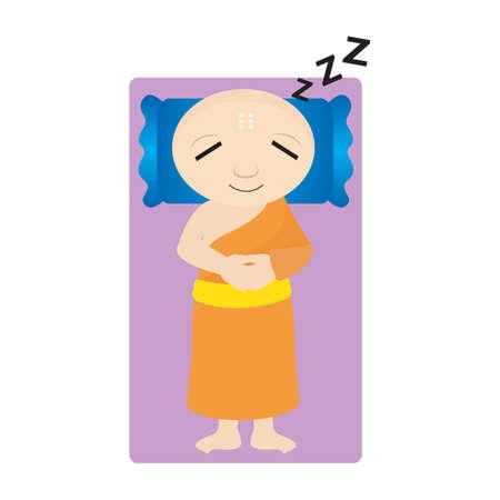 moine: moine dormir Illustration
