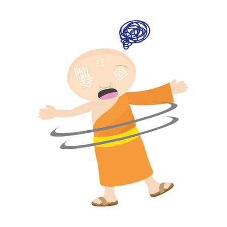 hypnotized: monk hypnotized Illustration