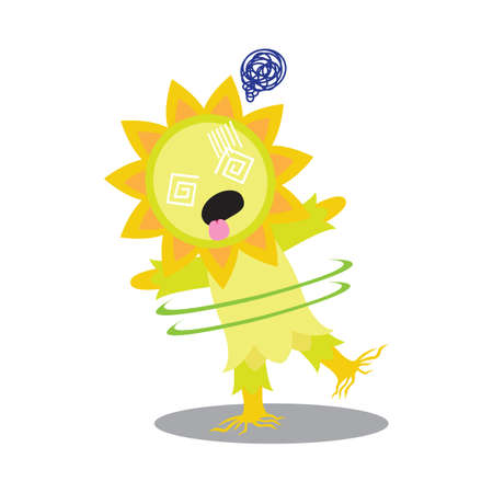 hypnotized: sunflower character hypnotized