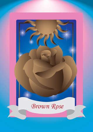 brown: brown rose label
