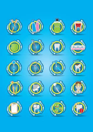 cavity braces: dental collection Illustration