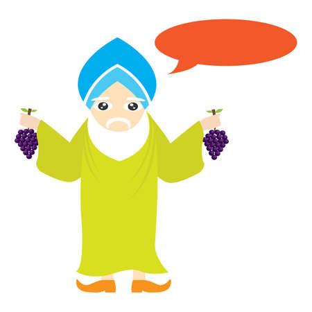 sikh: sikh man holding grapes