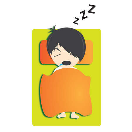 snoring: boy sleeping