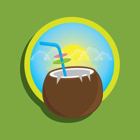 straw: coconut with straw