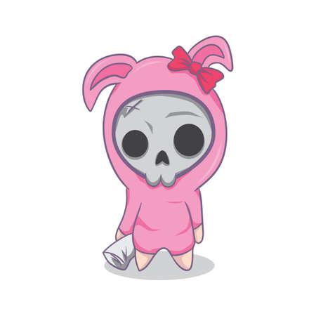 girl: girl skull