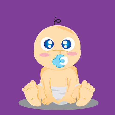 pacifier: baby with pacifier in mouth