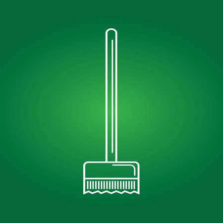 brush broom Ilustracja
