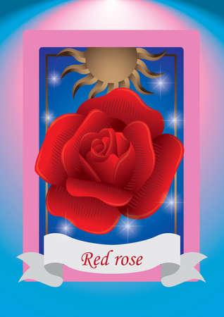 red rose: red rose label