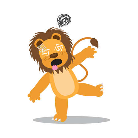 lion hypnotized Illustration