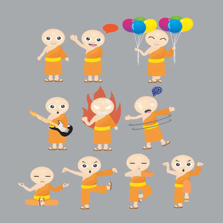 monk: monk with different actions