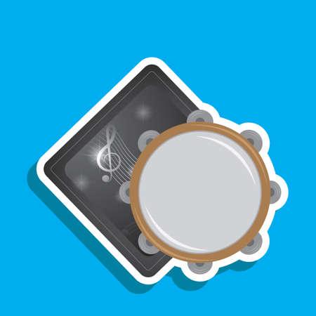 tambourine: tambourine label