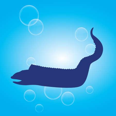 eel: silhouette of eel fish