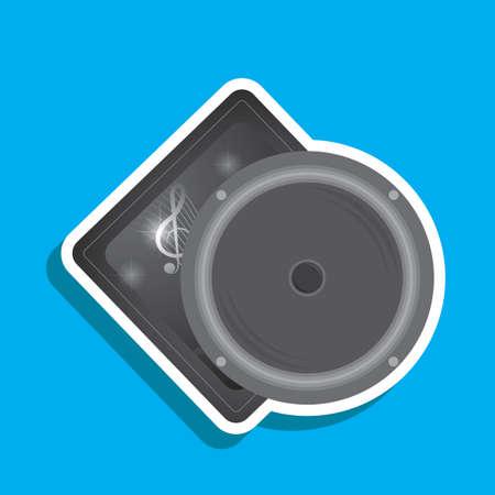 audio speaker: audio speaker label Illustration