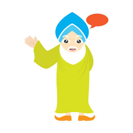 sikh: sikh man with speech bubble