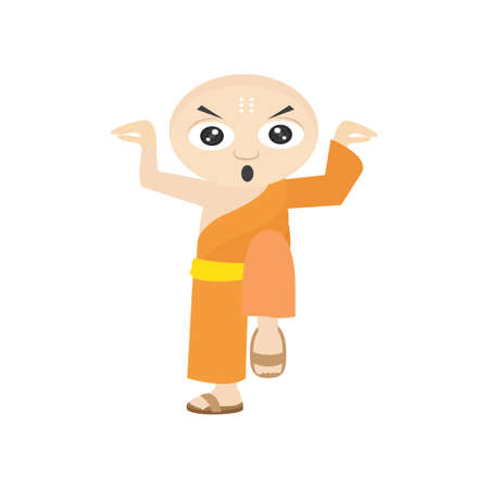 monk practicing karate