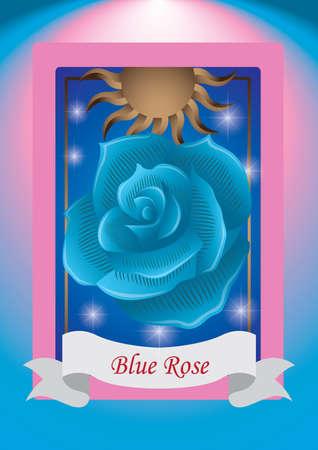 blue rose: blue rose label