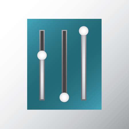 slider: slider buttons Illustration