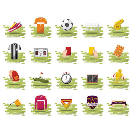 yellow card: soccer collection Illustration