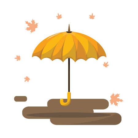 fall protection: umbrella Illustration