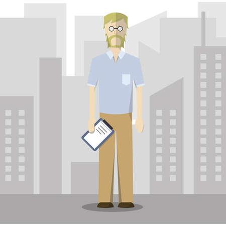 formal attire: businessman in smart casual wear