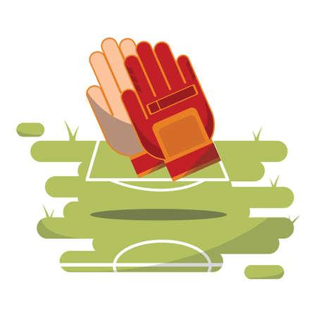 keeper: goal keeper gloves Illustration