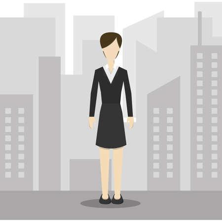 formal attire: businesswoman in formal attire