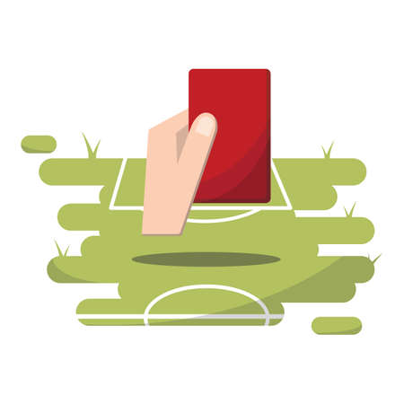 penalty card: soccer red card Illustration