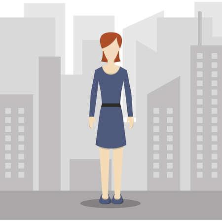 casual wear: businesswoman in smart casual wear