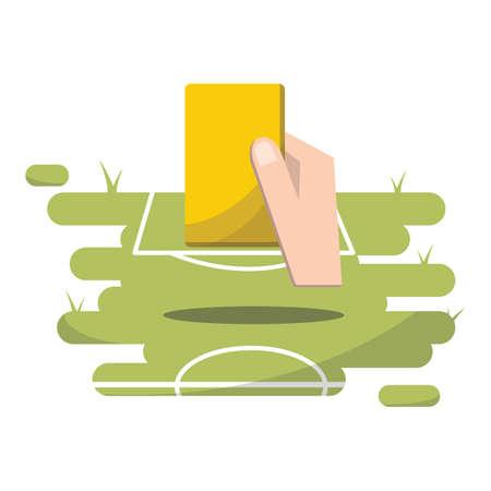 arbitros: fútbol tarjeta amarilla Vectores