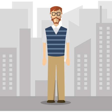 casual wear: businessman in smart casual wear
