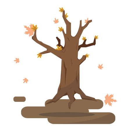 Herbst kahlen Baum