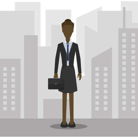 attire: businesswoman in formal attire