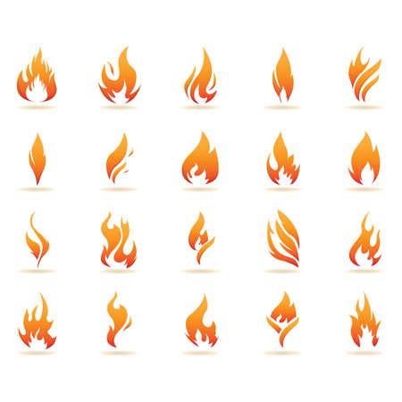 vlam collectie Stock Illustratie