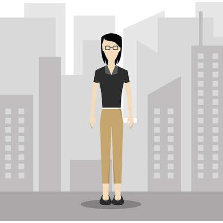 formal attire: businesswoman in smart casual wear