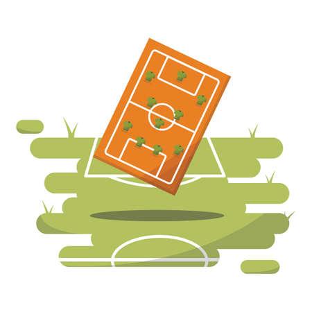 soccer field: soccer field strategy Illustration